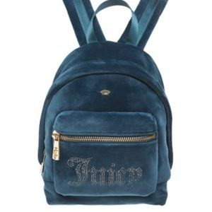 NWT. 🍀Juicy Couture Blue/Green Velour Backpack